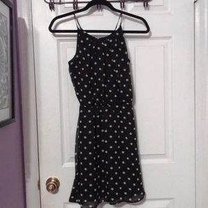 Charlotte Russe Dresses - Black and white polka dot dress with back opening